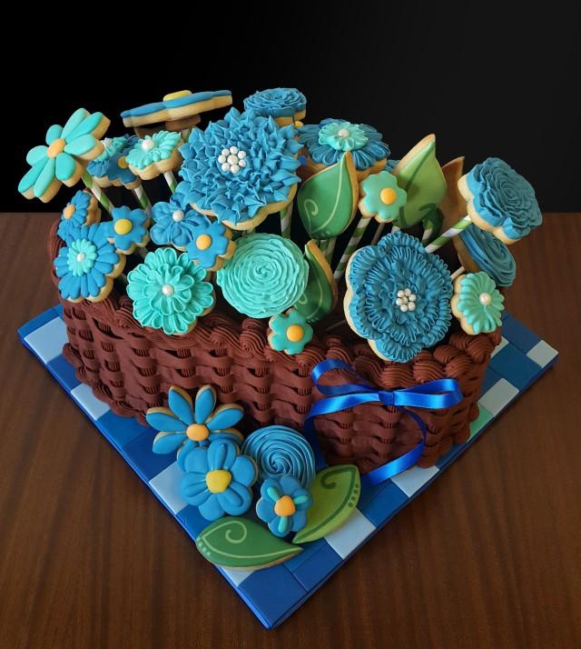 201806 Cookie flower basket